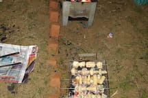 BbQ self managed by the guests enjoying the farmstay to the fullest