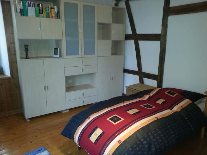 Rustic room in idyllic old farm house