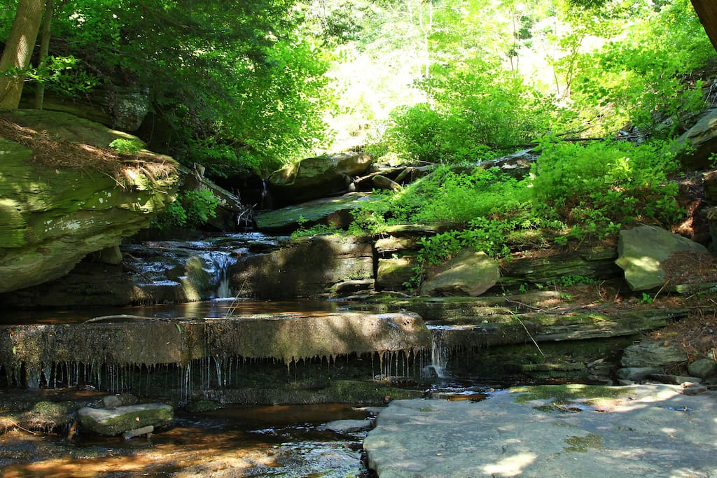 Toll Gate Creek waterfalls