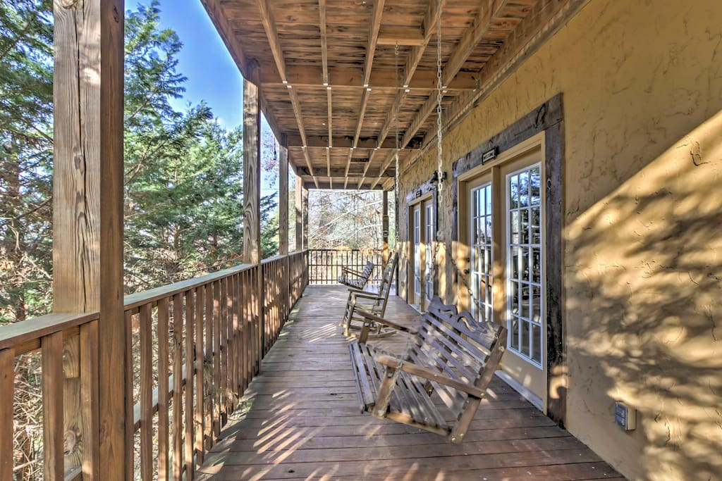 The wrap-around porches will quickly become your favorite places to sip your morning coffee.