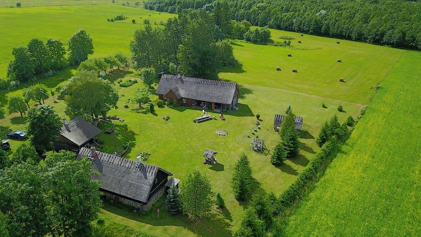 Põldotsa farm on a bird's eye