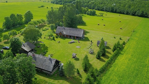 Cozy country house with sauna and pond - Põldotsa