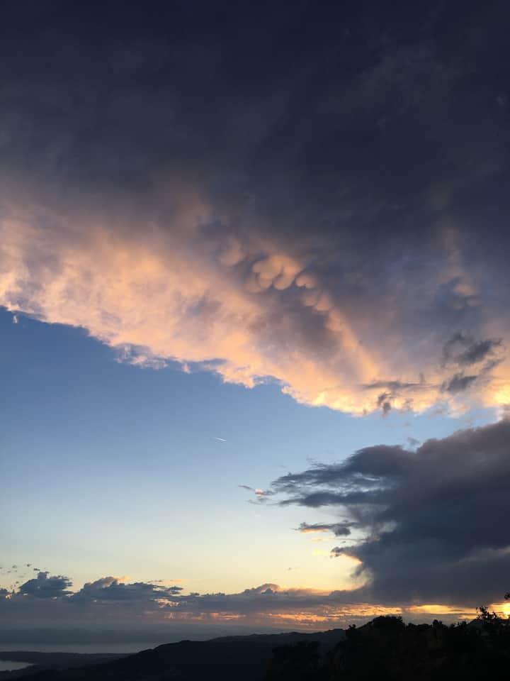 One recent sunset.