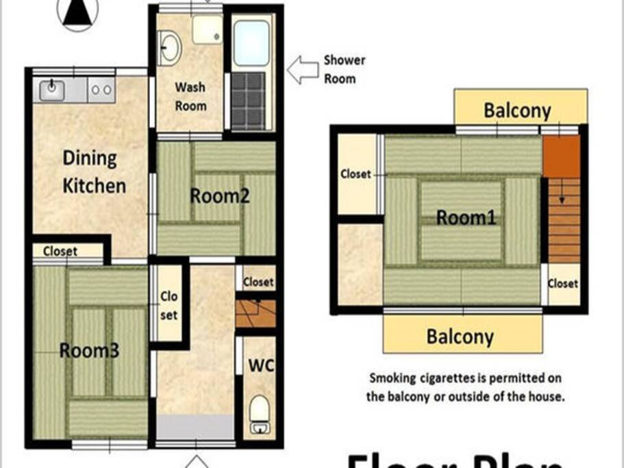 House map. We are 1st and 2nd floor.