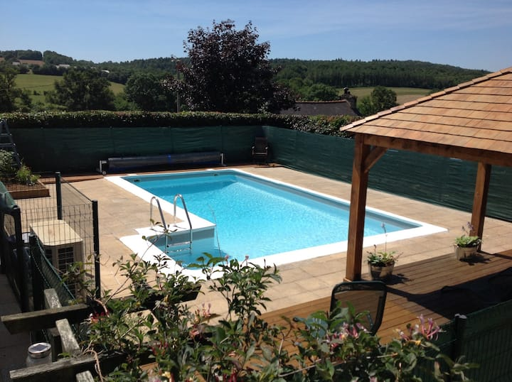 Breton Villa with Private Pool and Views