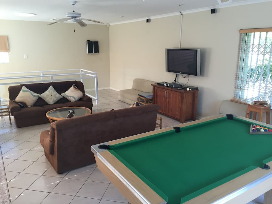 upstairs games and tv room