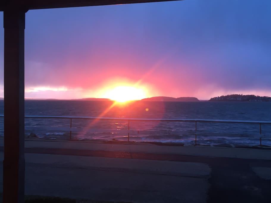 The Beautiful Sunset from the Front of the wrap around deck