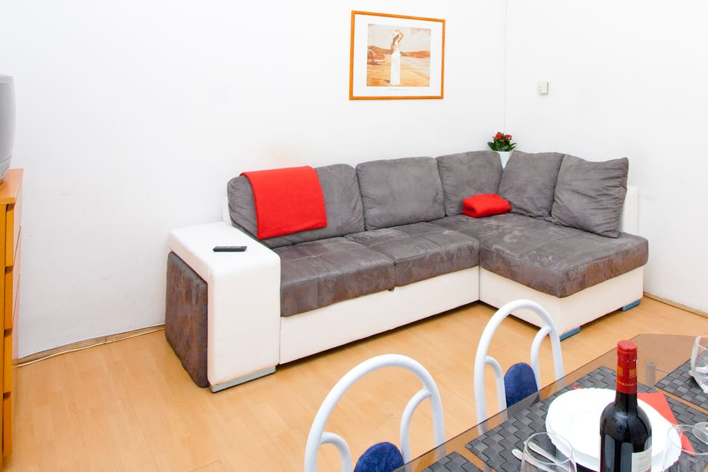 Living Room with Openable Sofa