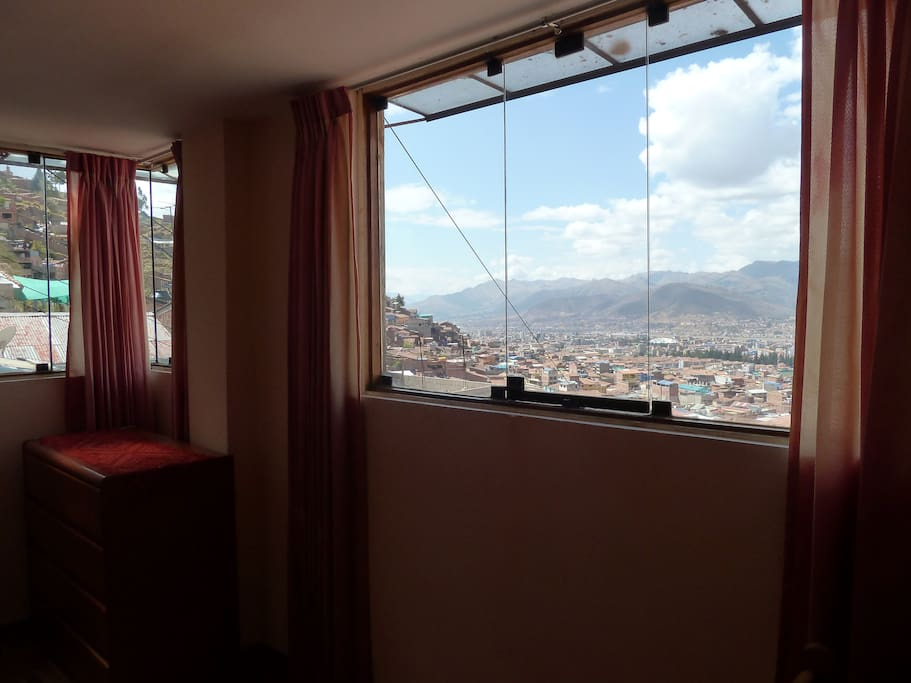 Huge windows with unmatched views of Cusco