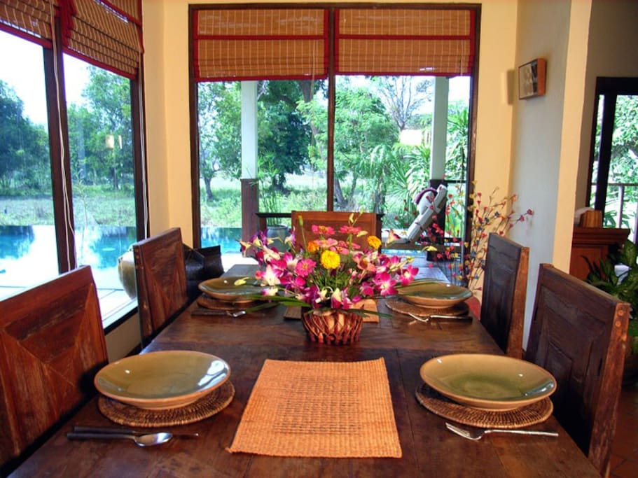 Superb Thai food is included in your holiday