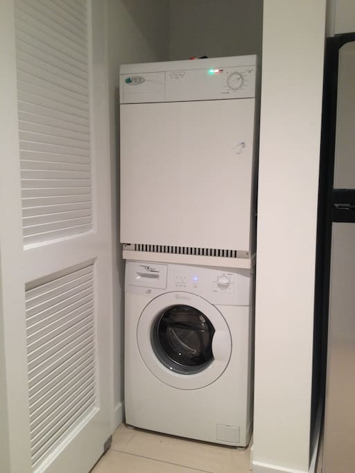 Washer /Dryer in the apartment