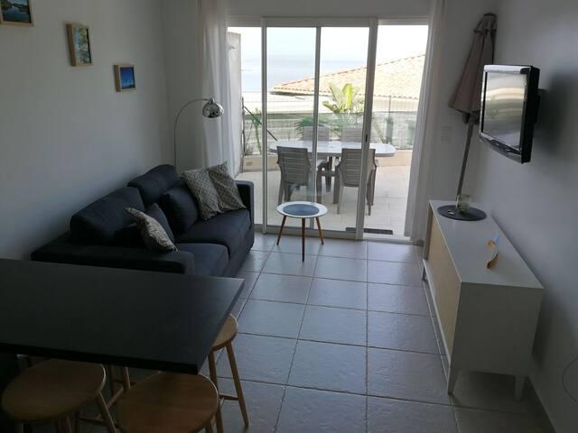 Appartement vue mer proche plage d'argent