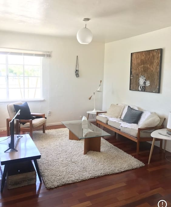 Living room with Mid-Century furnishings