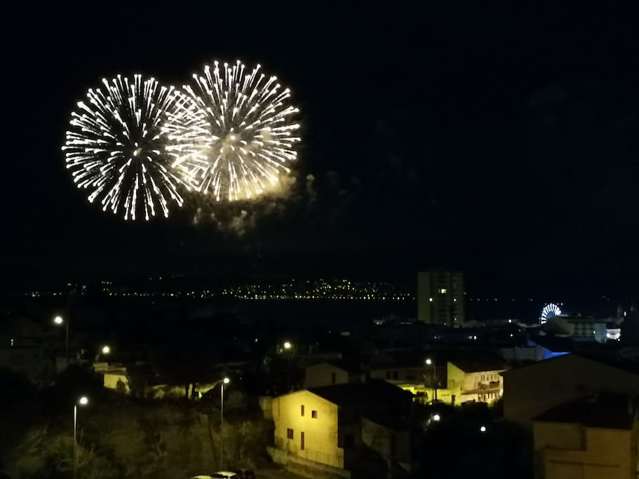 Feux d'Artifice vus du Balcon de l'appartement