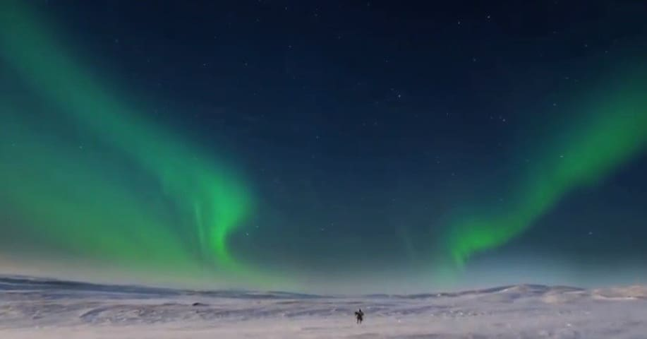 Experience the Northern Lights in winter darkness
