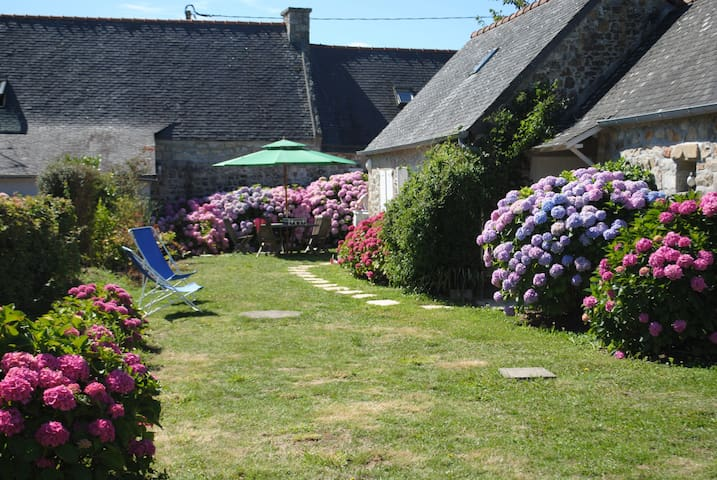 Traditional breton cottage Morgat.