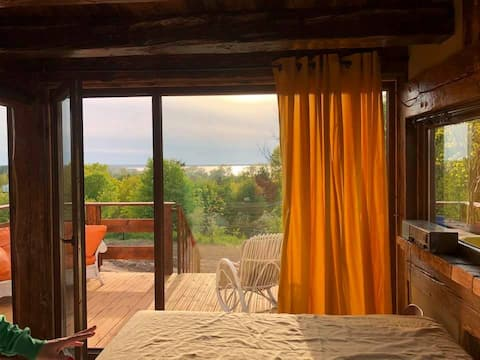 Casa-de-campo de assentamento de pássaros Czajka 4-6 pessoas