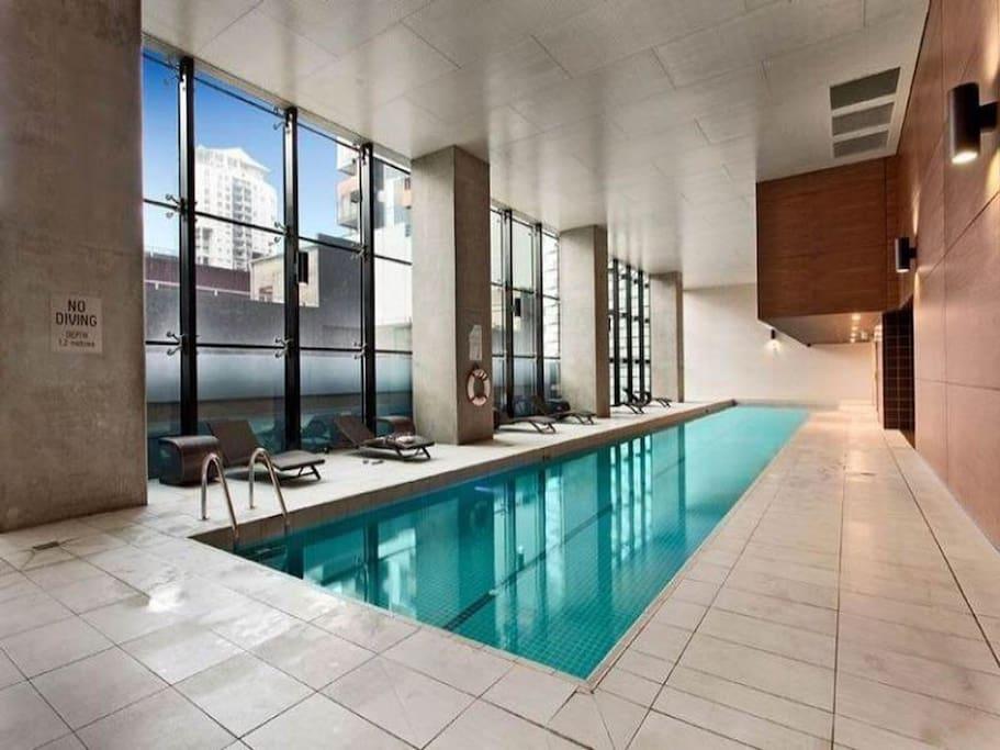 Building swimming pool.
