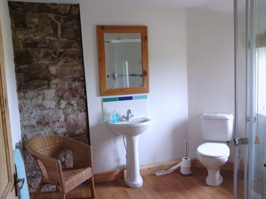 Private shower room across the landing.