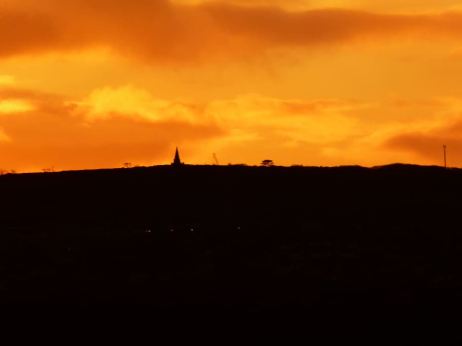Sunset at Knills Monument. Brilliant walking tracks around Steeple Lane. From here you can even set off to a coastal walk.