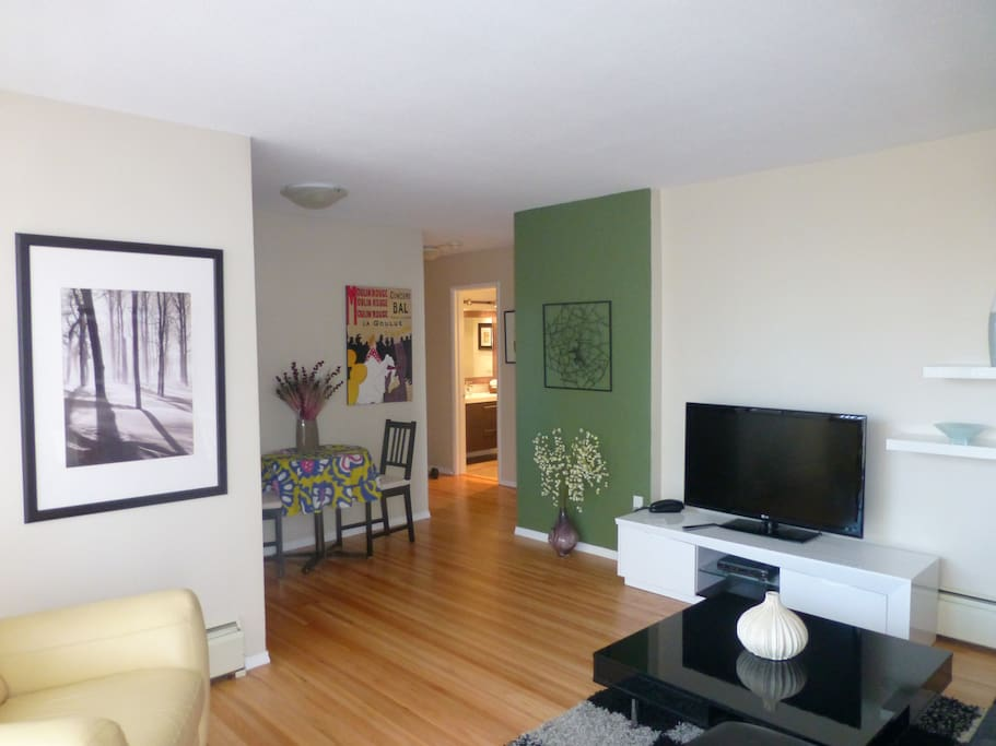 Everything you need in a spacious 1 bedroom apartment complete with Wi-Fi and HD TV
