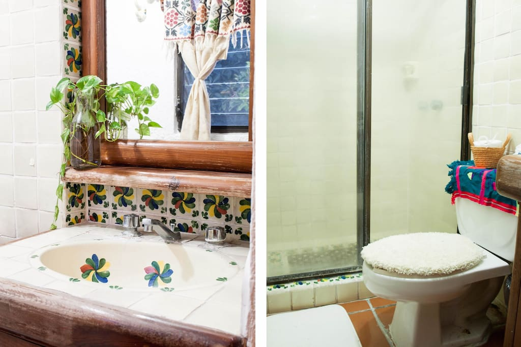 a view of your private bathroom