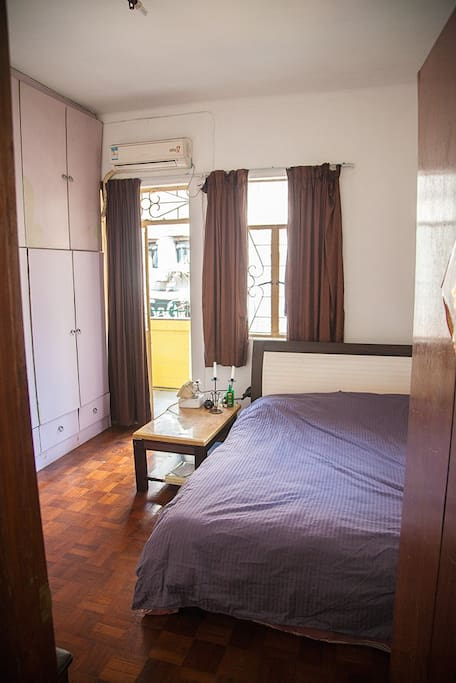 Additional Room on request with balcony access and Queen size bed