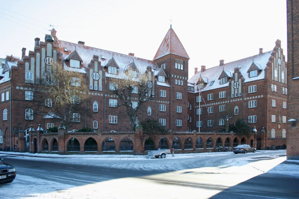 The 19th century convent in wintertime