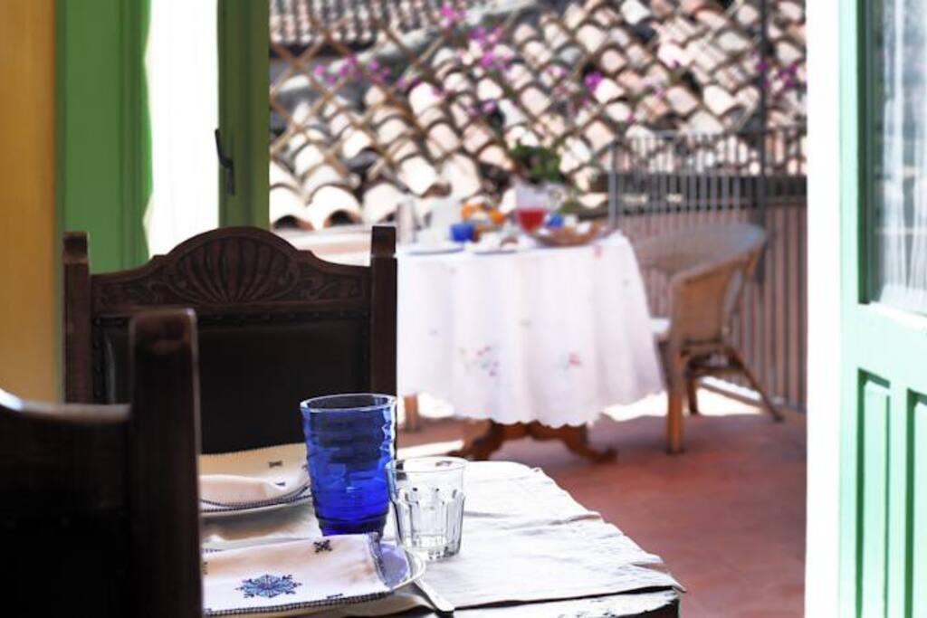 vista cucina/terrazza