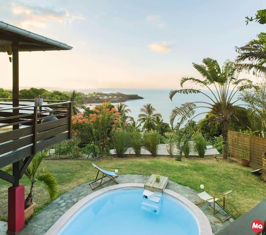 Villa Hawa, vue superbe du lagon, chambre Moja