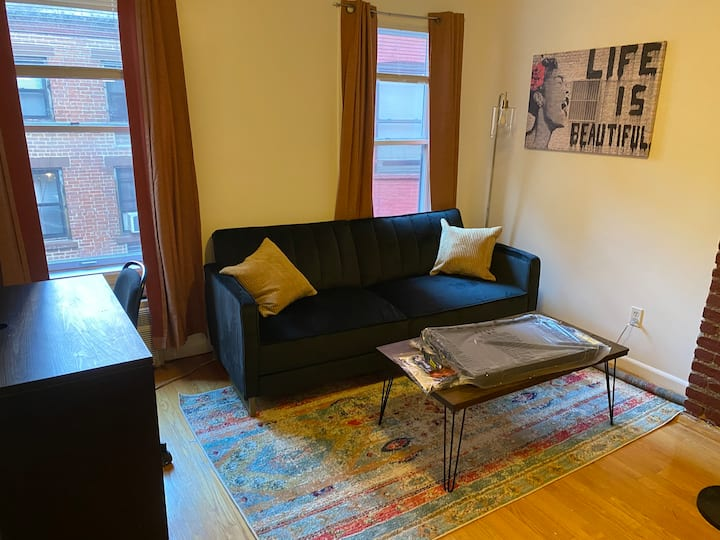 Roomy and quiet Furnished 1 bedroom apartment