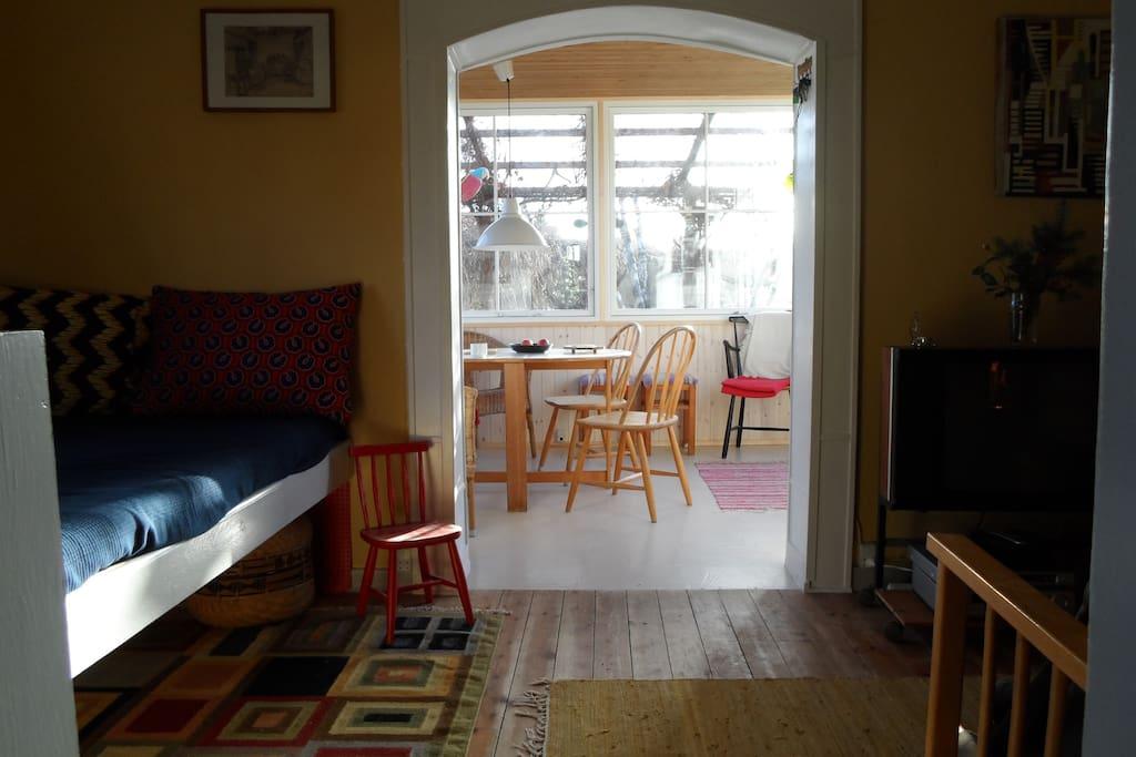View to veranda from kitchen door