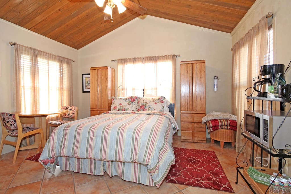 The bed is so comfortable.  Guests say they sleep better here than at their own home.