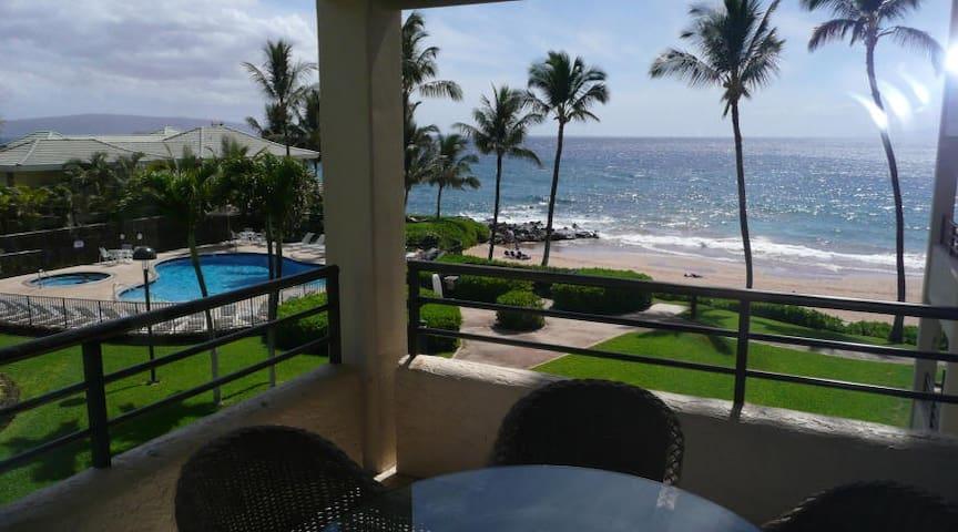 Polo Beach Club 2 br Ocean Front Condo 302 - Kihei - Casa