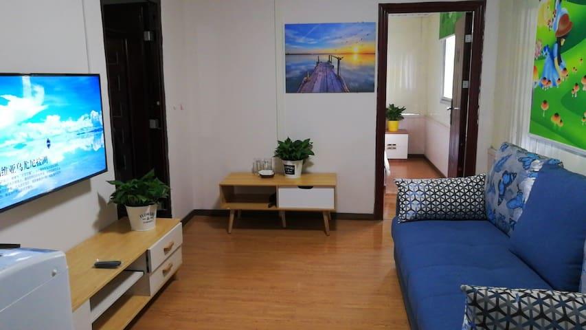 紧邻明月岛公园现代简约舒适一居室