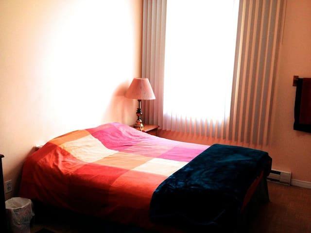 Grande fenêtre pour l'éclairage naturel (avec store nuit totale) - Big window for natural lightning (and blackout curtain)