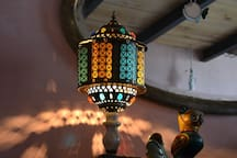 artistic lamp from Marrakech
