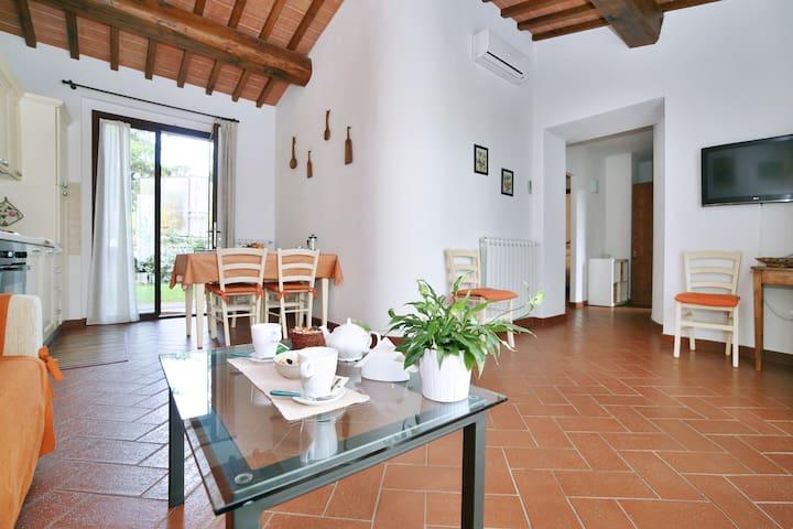 Spacious Apartment with Pool and Private Garden - San Donato in Poggio - Apartment