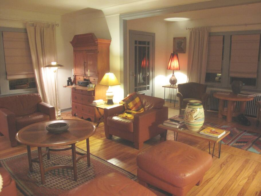 Another View of the Large Living Room and its Danish Modern and Antique Furnishings