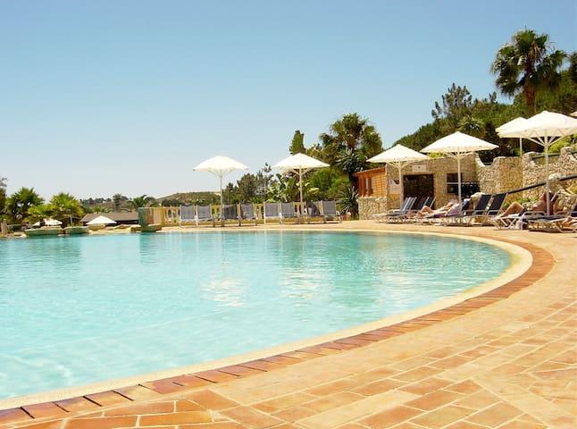 Resort swimming pool area