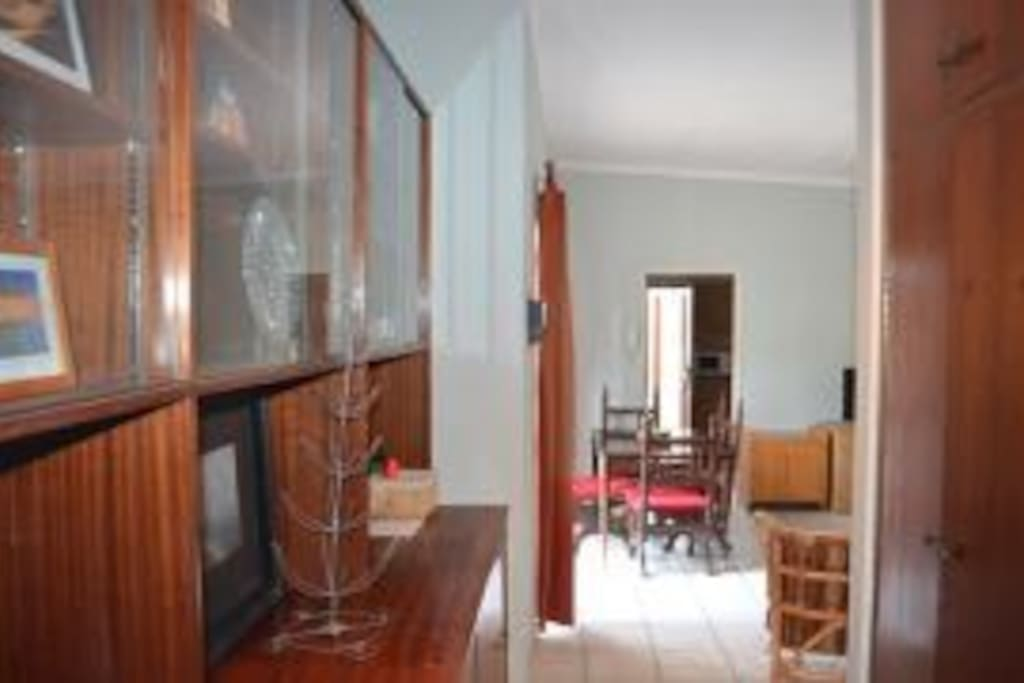 Views of the spacious dining /sitting/TV room