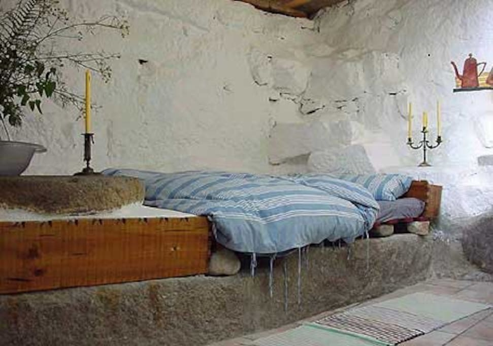 Sleeping where the mill stones used to spin.