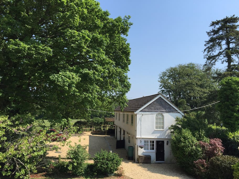 The Stables and the back forest gate
