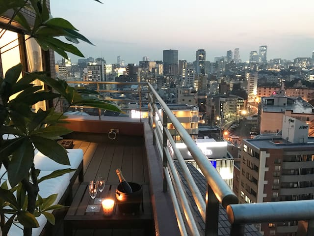 [Rooftop balcony!] apt in Heart of Roppongi