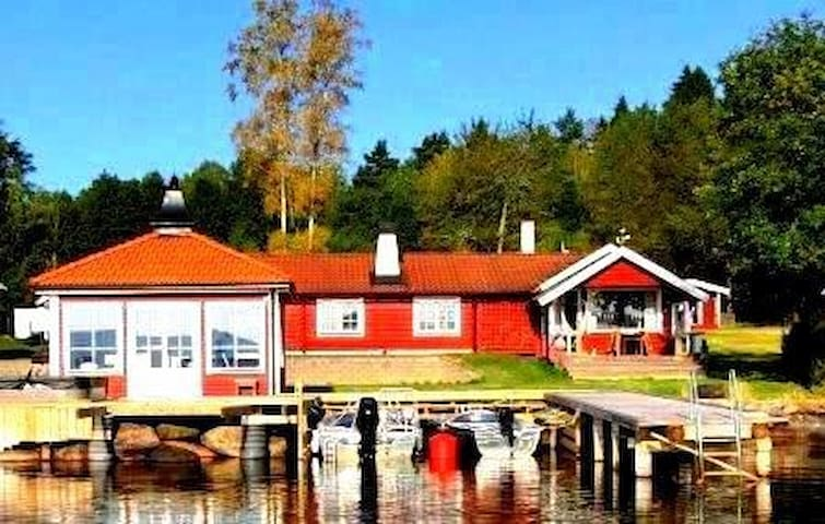 Holiday house directly at lake Sommen - Ydre V - Bungalow