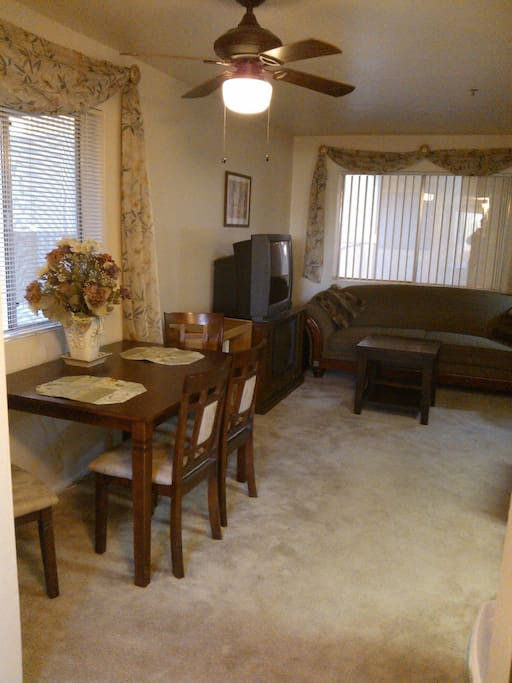 livingroom with dining table