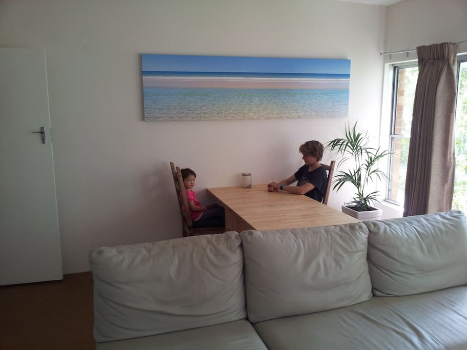 Dining table opens up to seat 4