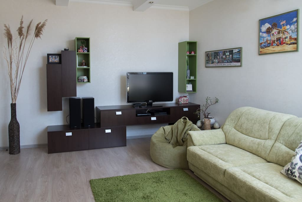 ТВ-зона гостиной