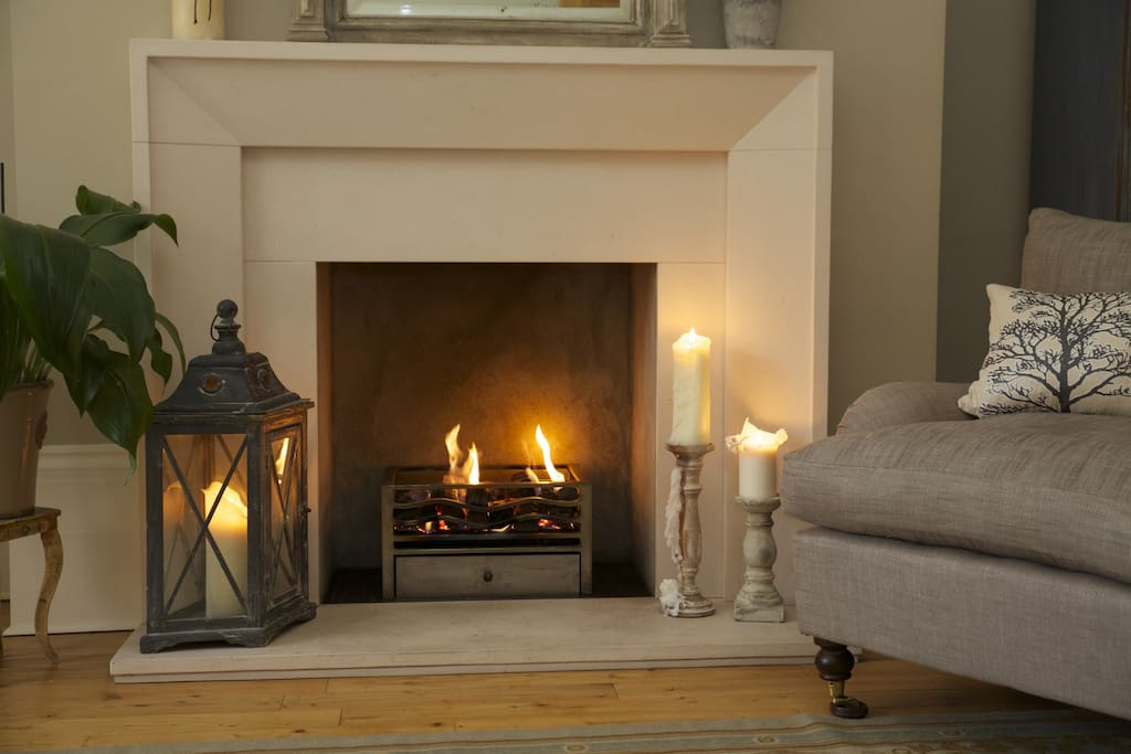Cosy fireplace