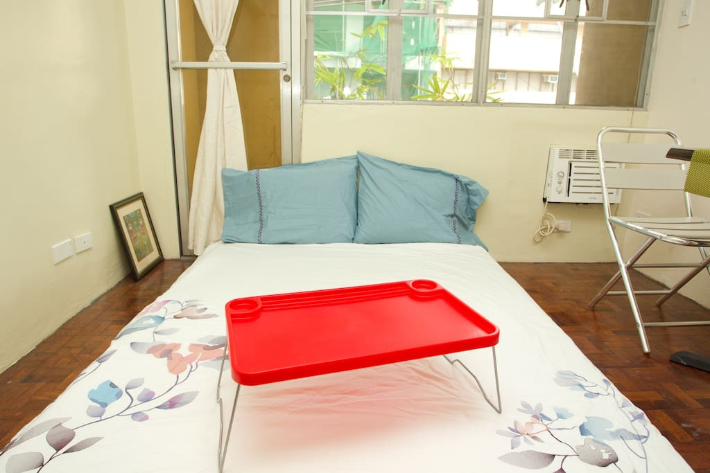 Comfy Double Bed with Breakfast Table